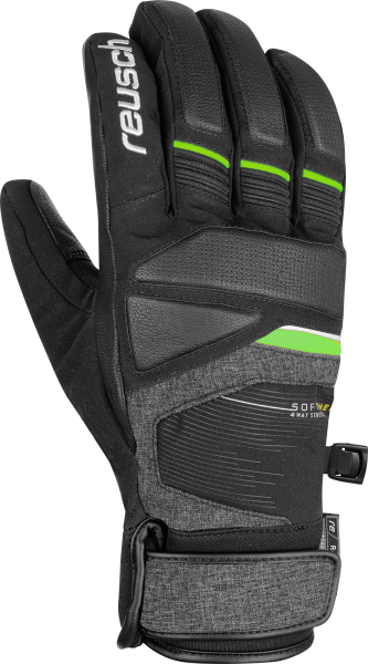 Reusch Storm R-TEX® XT 6001216 7679 black green grey front