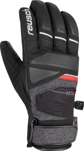 Reusch Storm R-TEX® XT 6001216 7680 black red grey front